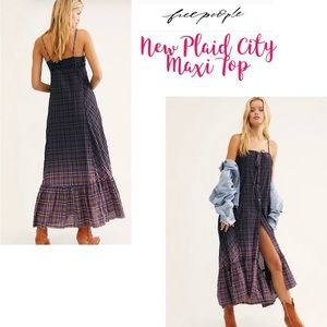 🌟🆕🌟 Free People Plaid City Maxi Top COMING SOON